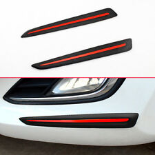 Car Bumper Scratch Proof Guard Protector Soft Strips Carbon Fiber Accessories