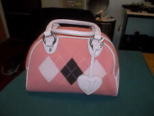 JUICY COUTURE %100 CASHMERE & LEATHER BOWLER SATCHEL BAG RARE