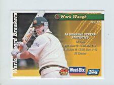 WEET-BIX WORLD RECORD BREAKERS CARD MARK WAUGH