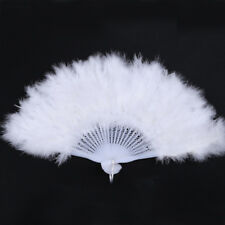 Elegant Handmade Goose Feather Folding Fluffy Fans Party Supplies Decorative Fan