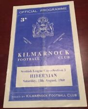 Away Teams F-K Hibernian Scottish Cups Football Programmes