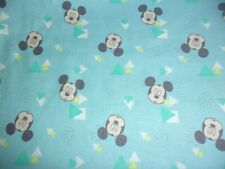 2 Yard Disney Mickey Mouse Head Toss Blue Cp65829 Springs Quilting Cotton Fabric