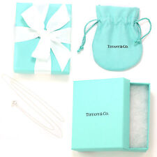 "Tiffany & Co Sterling Silver Chain Necklace, 16"" (NEW w/ Box, Pouch, Ribbon)"
