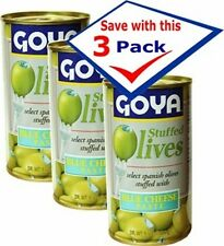 Goya Blue Cheese Stuffed Spanish Olives. 5.25 oz Pack of 3 Free Shipping