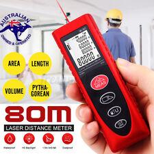 80m Digital Laser Distance Meter R Area Volume Range Finder Tape Measure Tool