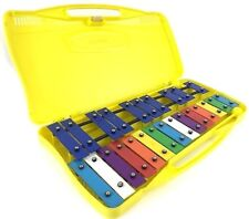 Q25 Prokussion  Colourful Chromatic Glockenspiel in Yellow Plastic Case