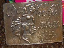 COCA-COLA Atlanta GA Dancing Girl Brass Belt Buckle by Tiffany