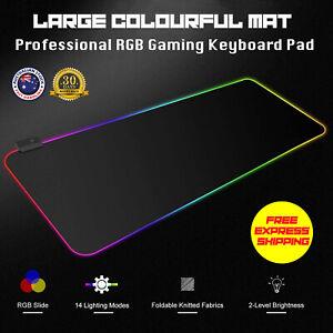 80cm Large Extended LED Gaming Mouse Pad RGB Keyboard Desk Non-slip Mousepad Mat