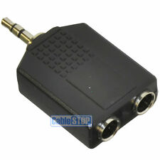 3.5mm Stereo Aux Jack Spina a 2 x 6.35mm ADATTATORE SDOPPIATORE STEREO 1/4""