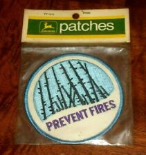 Vintage 1972 John Deere Patch PREVENT FIRES New In Package TY1311