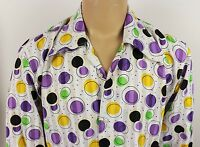 Vtg Mens 70s Style Disco Psychedelic Polka Dot Festival Shirt Stag Party Size M