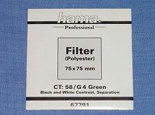 Hama Wratten  Filter  75x75  G4 Green