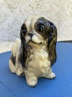 "SHIH TZU FIGURINE HAND CRAFTED HAND PAINTED 6"" height x 7"" long"