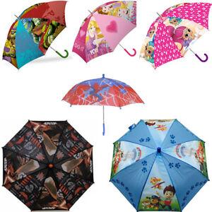 Kids Umbrella Disney Rain Marvel Protection Princess Cars Minnie Outdoor Brolly