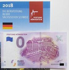 0 Euro Schein Festung Königstein 2018-1 Souvenirschein