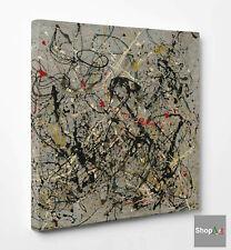 ❤️Quadro Astratto Pollock N.18 Stampa su Tela Canvas Vernice Pennellate Dripping