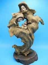 Roman, Inc. Wood Resin Tree Family Baby Sculpture Figurine 12 Inch
