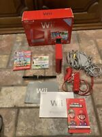 Nintendo Wii Red Console - 25th Anniversary with 2 games in ORIGINAL BOX