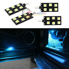 4PC Error Free 5050-SMD LED Ice Blue Footwell Lights for Audi A4 S4 B8 2008-2015