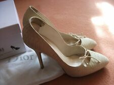 Christian Dior stunning runway shoes size 5.5, cream, snake skin, £550 when new.