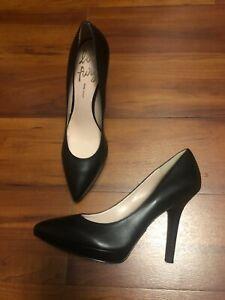 Nine West LOVE FURY Pointy Toe Stiletto Platform Pump Black Leather Shoes 11 M
