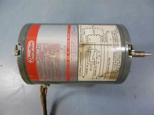 "Used Dayton Motor 6K402 1/12HP 60HZ 1PH 115V 1725RPM 2.7A 3/16"" Shaft"