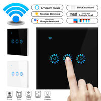 WiFi Smart Light Dimmer Switch Touch In Wall Remote Control Light Work Alexa UK