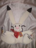 2002 SALT LAKE CITY WINTER OLYMPIC GAMES POWDER THE BUNNY RABBIT SMALL PLUSH