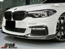 P Style Carbon Fiber Front Bumper Add Lip Fit 2017+ BMW 528i 535i 550i M sports