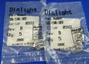 586-1106-105F, DIALIGHT, LED Replacement Lamps, WHITE, 10 bulbs New