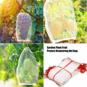 10/50pcs Garden Plant Fruit Protect Drawstring Net Bag Against Insect Pest Bird