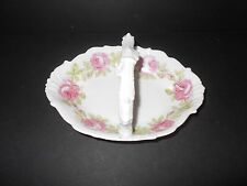 Vintage Imperial Limoges Porcelain Basket, Trinket Dish or Sugar Bowl Roses
