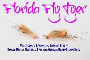 Petersons Spawning Shrimp Bonefish (4 Flies) Size 4 - Gamakatsu SL11-3H Hooks