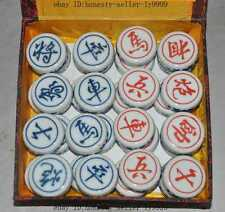 "7"" fine chinese Porcelain Folk Play chess CHESS SET game china Chess XIANGQI Set"