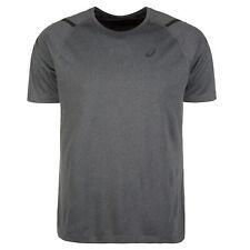 Asics Icon Short Sleeve Mens Running Fitness Training T-Shirt Tee Grey