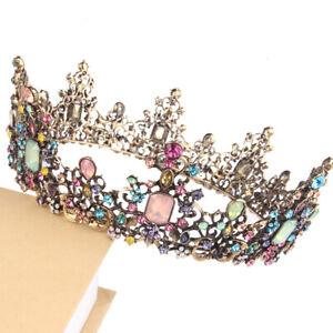 Crystal Tiara Bride Wedding Crown Hair Headband Bridal Queen Pageants Rhinestone
