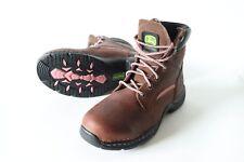 Women's John Deere work/hiking boots size us  6.5 uk 5 eur 37 steel toe leather