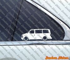 2x Lowered car stickers aufkleber- for Chevrolet Astro Van LT (1995-2005)