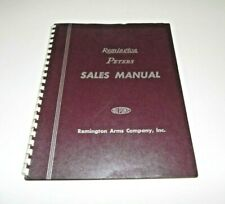 Remington Peters Original Sales Manual Remington Arms Bridgeport Conn 1940s