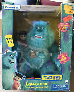 Thinkway Monsters Inc Sulley & Boo Hug & Cuddle Interactive Friends Toy New
