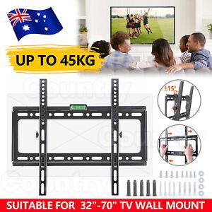 TV Wall Mount Bracket Tilt Slim LCD LED 32 40 42 43 47 50 55 60 62 65 70 inch