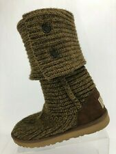 UGG Australia Classic Cardy Brown Sweater Knit Knee High Winter Boots Womens 7