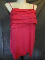 Lane Bryant strapless w straps tube top tank shirt  26/28 pink.