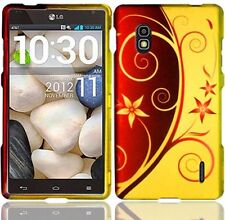 AT&T LG Optimus G E970 Rubberized HARD Case Snap On Phone Cover Elegant Swirl