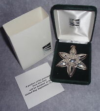 2001 Lunt Sterling Silver 8th Annual Star Christmas Ornament Pendant Medallion