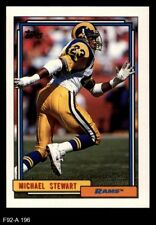1992 Topps #196 Michael Stewart Rams NM/MT