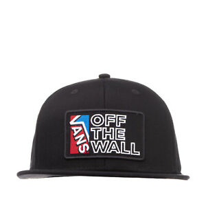 VANS Baseball Cap One Size Embroidered Patch 'OFF THE WALL' Flat Peak Snapback