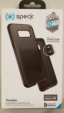 Speck Presidio Sleek Case for Samsung Galaxy S8 Black/Black - Brand New