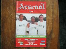 Arsenal v Manchester City - FA PL - Season 2000 - 2001 (VGC)