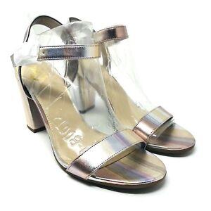 Circus Sam Edelman Esther Womans Sz 8M Metallic Stripes Block Heel Sandal New